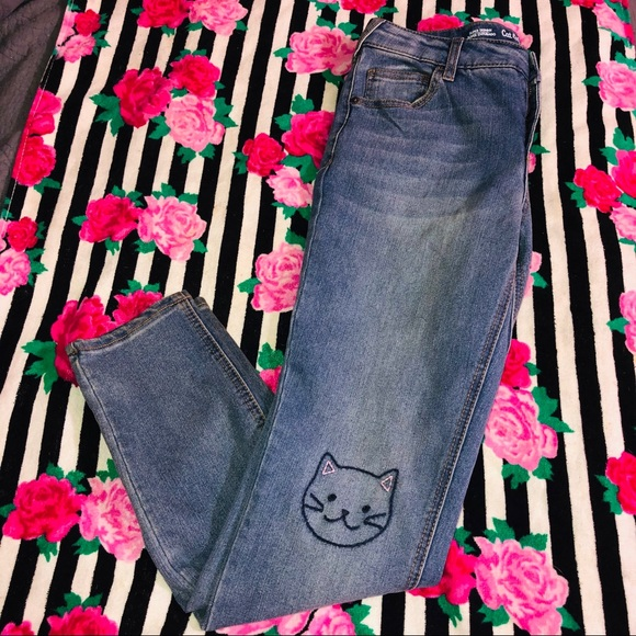 Cat & Jack Other - Girls Cat & Jack Jeans With Kitty Knees